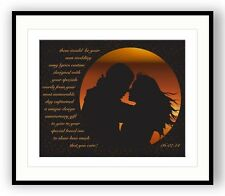 """Keith Whitley Wedding Song Print """"When you Say Nothing at All"""" Song Lyric Poster"""