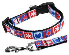 Patriotic Stars & Hearts Dog Collar or Leash * 1 CAT & 5 Dog Sizes * 4th of July