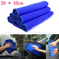 2/6X 30*30cm Blue Absorbent Wash Cloth Car Auto Care Microfiber Cleaning Towel