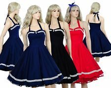 Vintage Dancing Swing Jive Rockabilly Dresses 50s 60s Party Skirt Cotton Evening