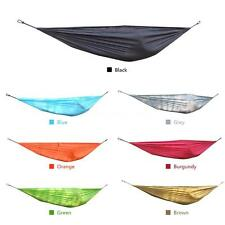 Portable Double Outdoor Hammock Swing Bed Parachute Nylon Fabric Travel Camp