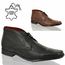 Mens Red Tape comfort leather formal office work chukka ankle boots shoes size