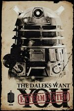 Doctor Who Daleks Want You Dr Who Poster 61x91.5cm