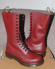 NIB Dr Doc Martens Women's 1914 Cherry Red 14-Eye Smooth Leather Boots 5US/3UK