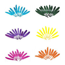 50pc Dyed Goose Feather 4-6 inch DIY Craft Millinery Hats Fascinators Flyfishing