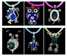 Color Change Sensitive Thermo Mood Pendant Necklace Monkey Turtle Frog 6 Styles