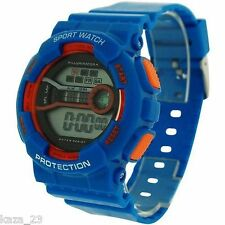 Reflex Boy's - Girls Digital Chronograph Red & Blue Plastic Strap Watch
