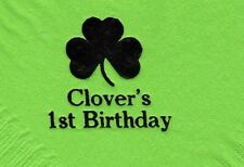 SHAMROCK CLOVER 50 Personalized printed LUNCHEON DINNER napkins