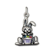 Sterling Silver Easter Charms - Easter Bunny, Easter Egg, Basket, Rabbit