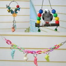 Chew Parrot Minerals Supplies Elevated Bars Swing Toys Ladder Teeth  Birds 2016