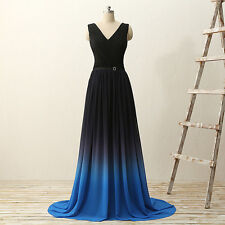 Strapless Evening Dresses Sexy V Neck Bridesmaid Formal Party Prom Chiffon Gowns