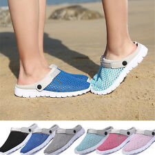 Summer Mens Womens Casual Sandals Shoes Mesh Couples Beach Slippers Slip Ons