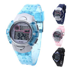 New LED Digital Wrist Watch Alarm Week Date Sport Children Boy Girl