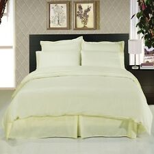Elegant Ivory 8-Piece Bedding Set Super Soft Microfiber Sheets Duvet & Comforter
