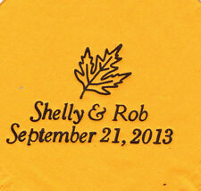 LEAF LOGO 50 Personalized printed LUNCHEON DINNER napkins