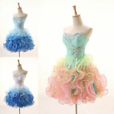 Ruched STOCK New Short Prom Evening Dress Formal Party Ball Gown Homcoming Dress