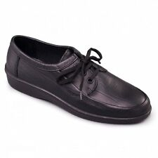 Padders REBEL Mens Soft Leather Casual Comfort Standard Fit Lace-Up Shoes Black
