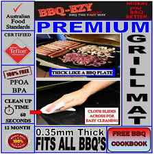 Grill Mat Premium(4x Thicker)Teflon BBQ Grill Mat ++ Sizes +Money Back Guarantee
