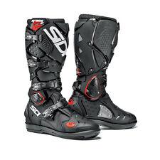 NEW SIDI CROSSFIRE 2 SRS MX MOTOCROSS DIRTBIKE OFFROAD BOOTS BLACK BLK ALL SIZES