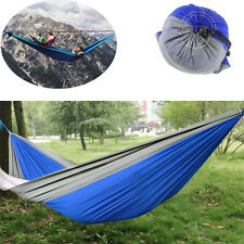 Double Outdoor Hammock Swing Bed Portable Camping Travel Parachute Nylon Fabric