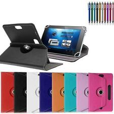 """Rotating Leather Folio Flip Case Cover Stand Box For 7"""" 8"""" Lenovo Tablet w/Styus"""