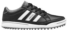 Adidas Junior Adicross IV Golf Shoes Q47076 Black/White Kids Clearance New