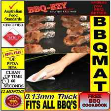 BBQ Mat (5mil) use on GRILLS|Double Strength|Longer Roll|+ Money Back Guarantee