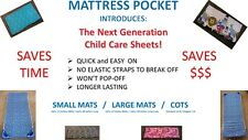 NEW STYLE DAYCARE SHEETS for CHILD CARE MATS REVOLUTIONARY!10 SECONDS TO PUT ON