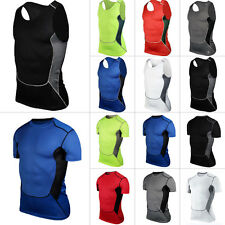 Men's Compression Base Layer Tights Tank Armour Top Vest Thermal Skins T-Shirt