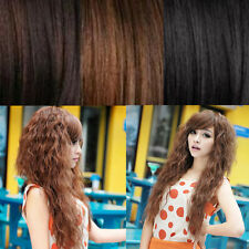 Wavy Full Curly Fashion Cosplay Hair Wigs New Sexy Party Womens Long 3 Colors