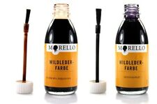 Morello Suede color 100ml Leather colour for Suede with Brush applicator z2004