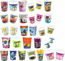 8 PARTY CUPS - Range of LICENSED CHARACTER DESIGNS (Birthday Supplies){SetC}