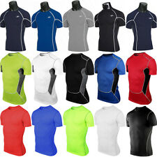 Men's Body Armour Compression Base Layer Tops Under Skins Short Sleeve T-Shirts