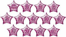 "PINK GLITZ - 20"" PRISMATIC STAR FOIL BALLOON (Birthday Party/Helium/Girl/Female)"
