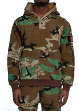 Hudson NYC Lookout Camo  Pullover Hooded Sweatshirt Size S~3XL
