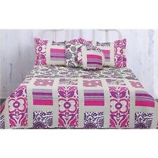 NEW Twin Full Queen King Bed Mauve Butterfly Reversible 5 pc Quilt Coverlet Set