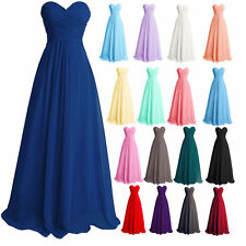 Women Long Wedding Bridesmaid Party Gowns Chiffon Ball Prom Evening Dresses
