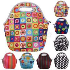 Waterproof Soft Zip Preservation Neoprene Lunch Tote Bag Mini Travel Lunchboxes