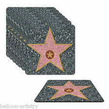 8 Hollywood Movies Star Walk Fame Awards Night Party Drinks Coasters