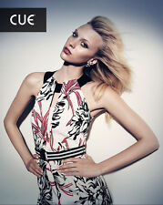 BNWT CUE Campaign Fire Floral Dress Sz 6 RRP$279
