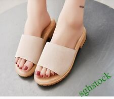 2016 New Fashion Women Open Toe Slippers Block Comfort Casual Sandals Shoes Size