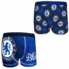 Chelsea Football Club Official Soccer Gift 1 Pack Boys Boxer Shorts Blue
