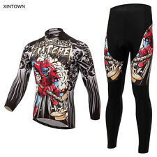 Men Wear Long Sleeve Cycling Jersey MTB Bike Shirt Sport Clothing Tops Bib Pants