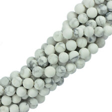 Hot 6mm 8mm Charms Natural Round Howlite Turquoise Gemstone Spacer Loose Beads
