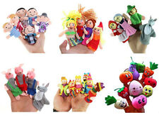 Family Finger Puppets Cloth Doll Baby Educational Hand Toy Story Kid Party FT