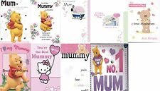Mothers Day Cards - Winnie the Pooh - Hello Kitty - Teddy Bear
