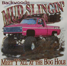 ALL AMERICAN BACKWOODS MUD SLINGIN BOG HOLE 4X4 TRUCK SHIRT #320