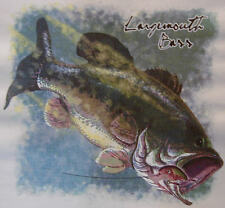 ALL AMERICAN OUTFITTERS LARGEMOUTH BASS FISHING FISH SHIRT #466-D