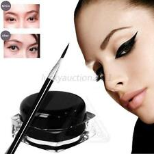 Beauty Waterproof Black Eye Liner Eyeliner Shadow Gel Makeup Cosmetic + Brush