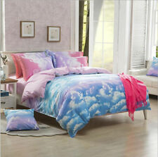 Bright Sky Bedding Set Duvet Quilt Cover Single/Queen/King Size Clouds
